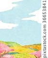 꽃, 언덕, 봄 36653841