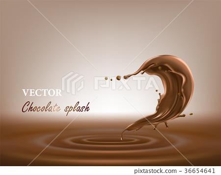realistic chocolate splash vector illustration stock illustration 36654641 pixta pixta