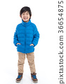 Happy asian child in winter clothes 36654875