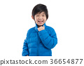 Happy asian child in winter clothes 36654877