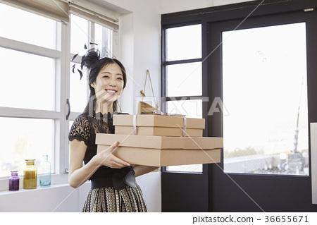 젊은여자,20대, 한국인,크리스마스 36655671