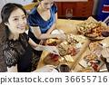 年輕女子,20多歲,韓國人,聖誕節 36655716