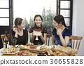年輕女子,20多歲,韓國人,聖誕節 36655828