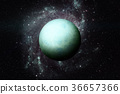 Planet Uranus. Elements of this image furnished by 36657366