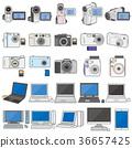 各種電器/ PC和相機的插圖 36657425