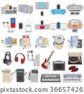 다양한 기기의 일러스트 / 음악 36657426