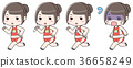 마라톤 달리기 조깅 육상 달리는 여성 세트 36658249