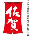 shop curtain, saga, calligraphy writing 36660101