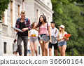 Group of attractive teenage students walking to 36660164