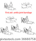 bandage in case of injury of the ankle joint 36660758
