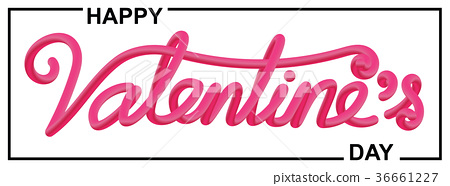 Valentines day beautiful calligraphic lettering 36661227