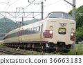 limited express train, stork, series 381 36663183