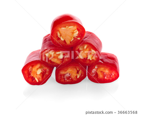 chili peppers isolated on white background 36663568
