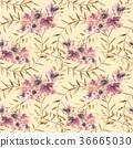 watercolor, floral, leaf 36665030