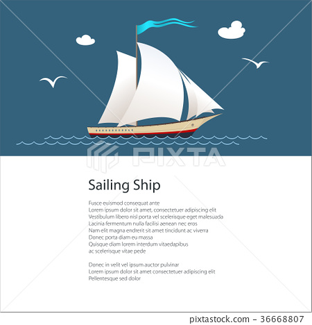 Poster with Yacht 36668807