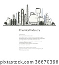 Industrial Chemical Plant Isolated 36670396