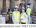 工廠,物流,倉庫,員工 36671349