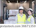 工廠,物流,倉庫,員工 36671350