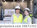 工廠,物流,倉庫,員工 36671352