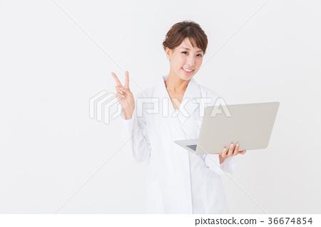 White lady's female computer 36674854