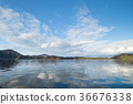 ทะเลสาบ,ต้นเมเปิล,ท้องฟ้าเป็นสีฟ้า 36676338