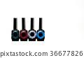Four unique nail polish bottle isolated  36677826