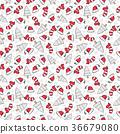 Seamless Christmas Pattern 36679080