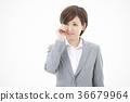 여성 비즈니스 젊은 여성 36679964