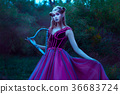 Beautiful young elf woman 36683724