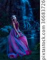 Beautiful young elf woman 36683726