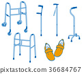 cane, baby-walker, rehabilitation shoes 36684767