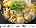 雞肉鍋雞肉餃子火鍋日本料理 36685742
