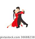 tango, cartoon, icon 36688238