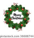 christmas, wreath, tree 36688744
