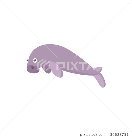 Sea calf icon, cartoon style  36688751