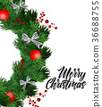 christmas, wreath, tree 36688755