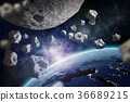asteroid, meteor, space 36689215