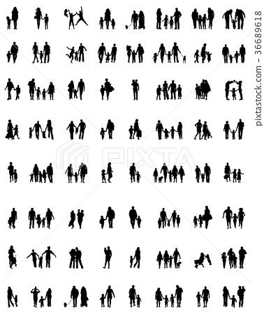 families in walking 36689618