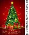 Christmas festive backgroung 36689710