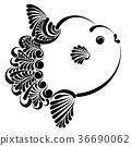 Ocean sunfish vector illustration 36690062