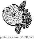 Ocean sunfish vector illustration 36690063