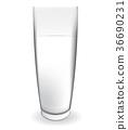 milk, glass, vector 36690231