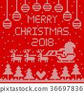 2018, christmas, reindeer 36697836