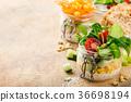 salad, jar, tomato 36698194