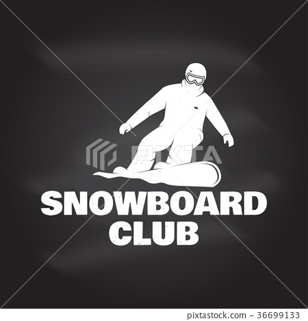 Snowboard Club. Vector illustration. Concept for 36699133