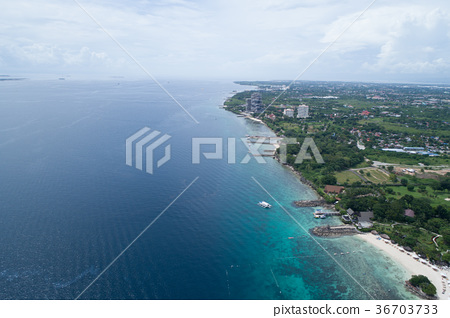 Aerial view of Cebu island 36703733