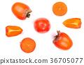 persimmon, fruit, cut 36705077