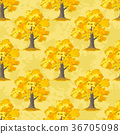 Oak Trees Seamless 36705098