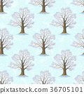 Oak Trees Seamless 36705101