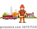 Picture of a firefighter 36707559